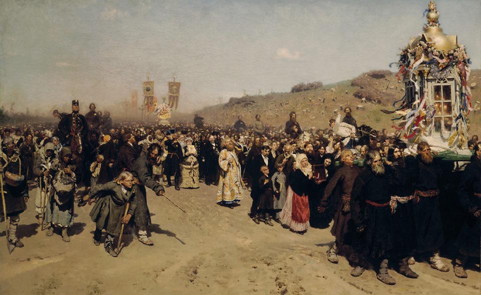 Экспозиция произведений Ильи Ефимовича Репина (1844–1930) в Третьяковке.