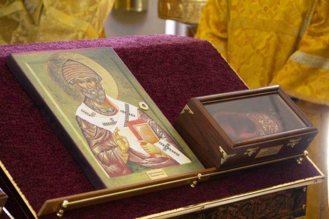 Казачьему храму переданы в дар мощи свт. Спиридона Тримифунтского